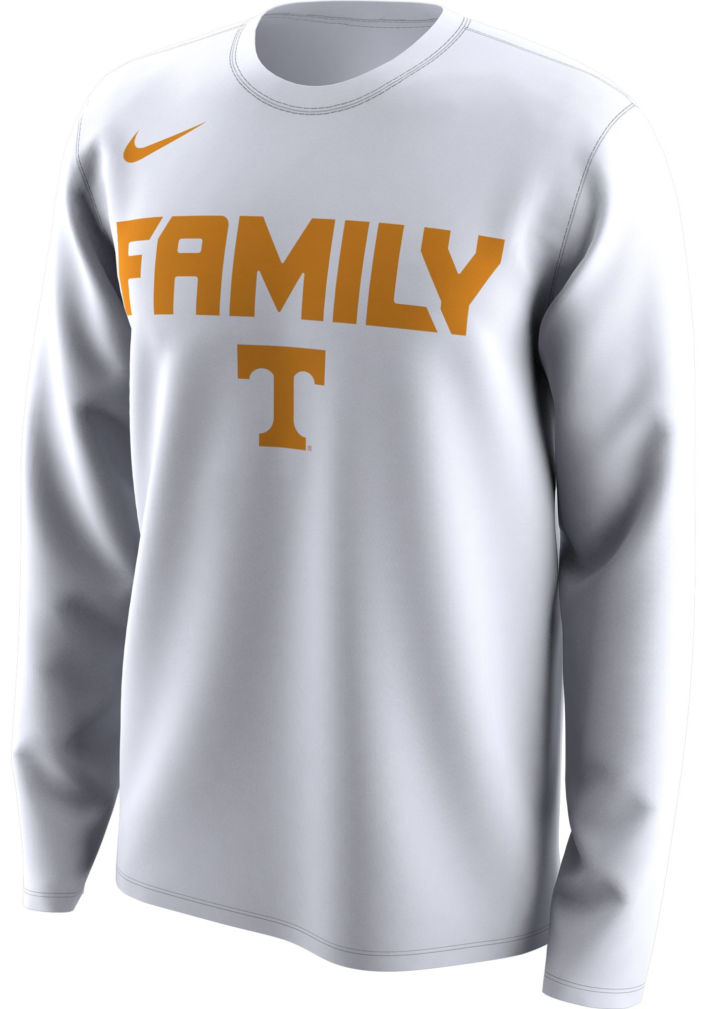 Nike Men's Tennessee Volunteers 'Family' Bench Long Sleeve White T-Shirt