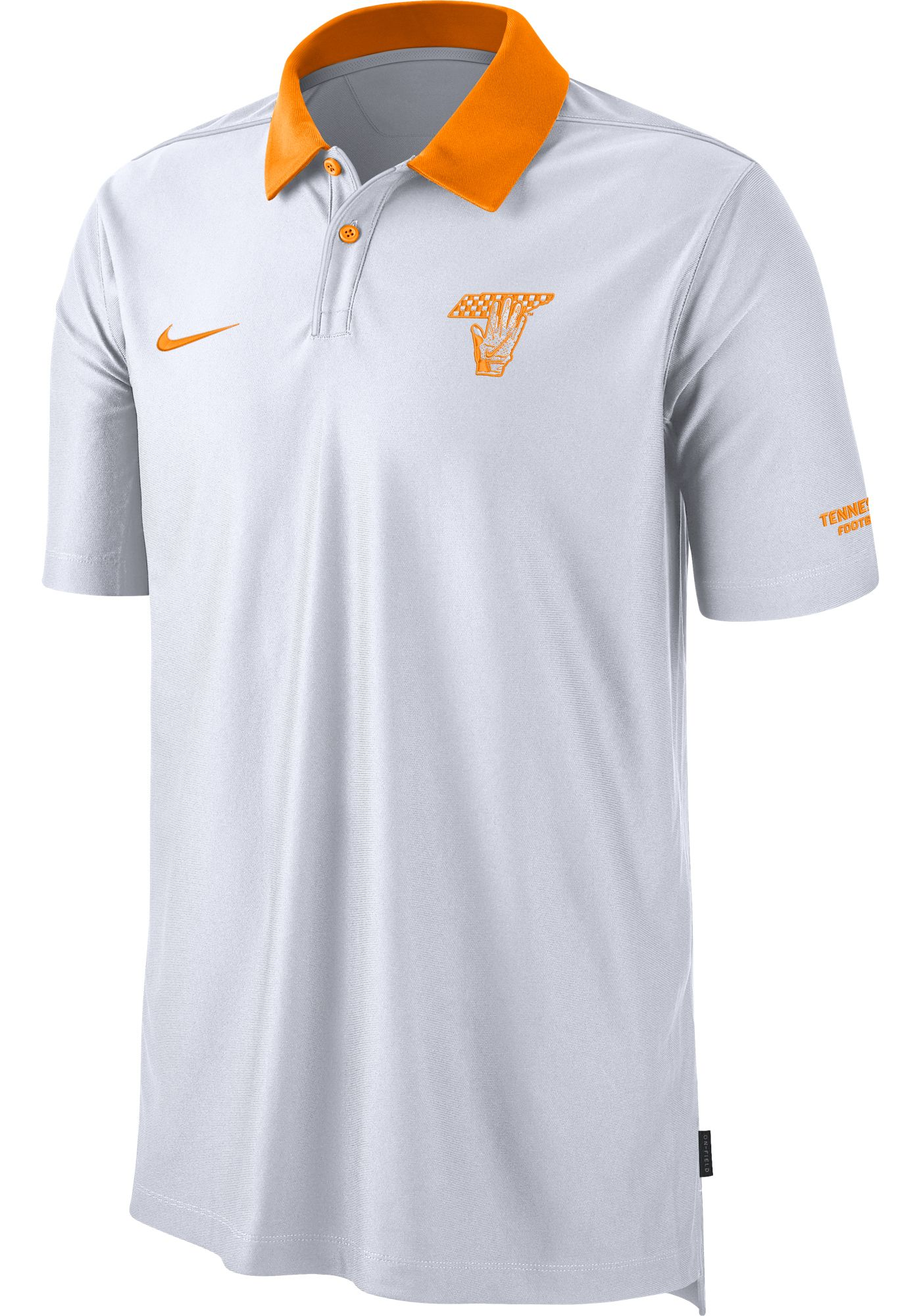 Nike Men's Tennessee Volunteers Dri-FIT Rivalry Football Sideline White Polo