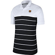 Nike Men's Tennessee Volunteers White/Black Striped Polo