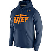 Nike Men's UTEP Miners Navy Club Fleece Pullover Hoodie