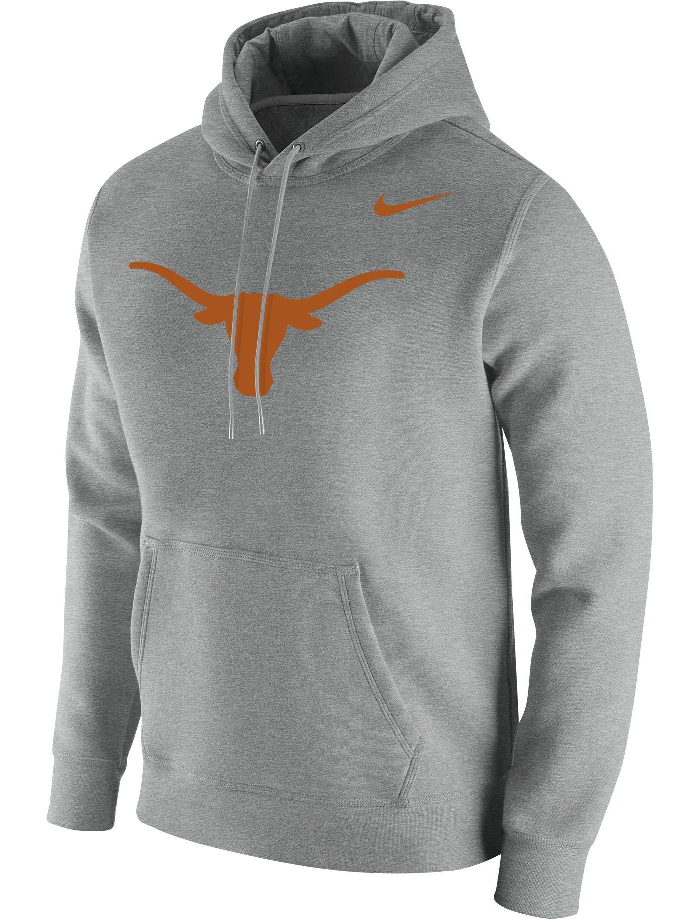 Nike Men's Texas Longhorns Grey Club Fleece Pullover Hoodie