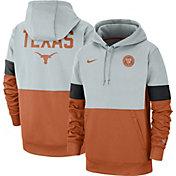 Nike Men's Texas Longhorns Grey/Burnt Orange Rivalry Therma Football Sideline Pullover Hoodie