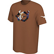 Nike Men's Texas Longhorns Burnt Orange Kevin Durant x Texas Dri-FIT Cotton T-Shirt