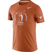 Nike Men's Texas Longhorns Burnt Orange Dri-FIT Rivalry Football Sideline T-Shirt