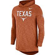 Nike Men's Texas Longhorns Burnt Orange Dri-FIT Rivalry Football Sideline Hooded T-Shirt