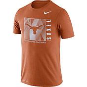 Nike Men's Texas Longhorns Burnt Orange Team Issue Logo Football T-Shirt