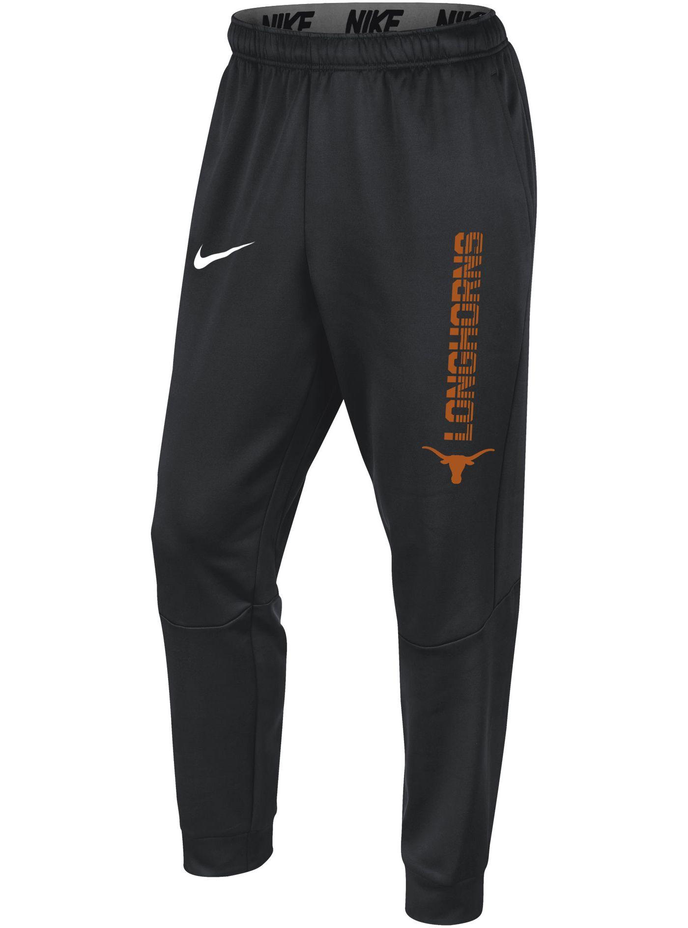 Nike Men's Texas Longhorns Grey Therma Tapered Pants