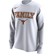 Nike Men's Texas Longhorns 'Family' Bench Long Sleeve White T-Shirt