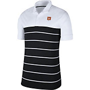 Nike Men's Texas Longhorns White/Black Striped Polo