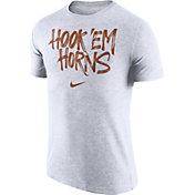 Nike Men's Texas Longhorns 'Hook 'Em Horns' Tri-Blend Verbiage White T-Shirt