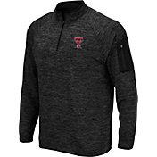 Colosseum Men's Texas Tech Red Raiders Quarter-Zip Black Shirt