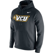 Nike Men's VCU Rams Club Fleece Pullover Black Hoodie