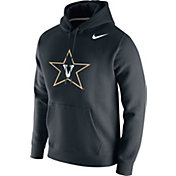Nike Men's Vanderbilt Commodores Club Fleece Pullover Black Hoodie
