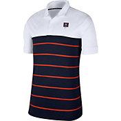 Nike Men's Virginia Cavaliers White/Blue Striped Polo