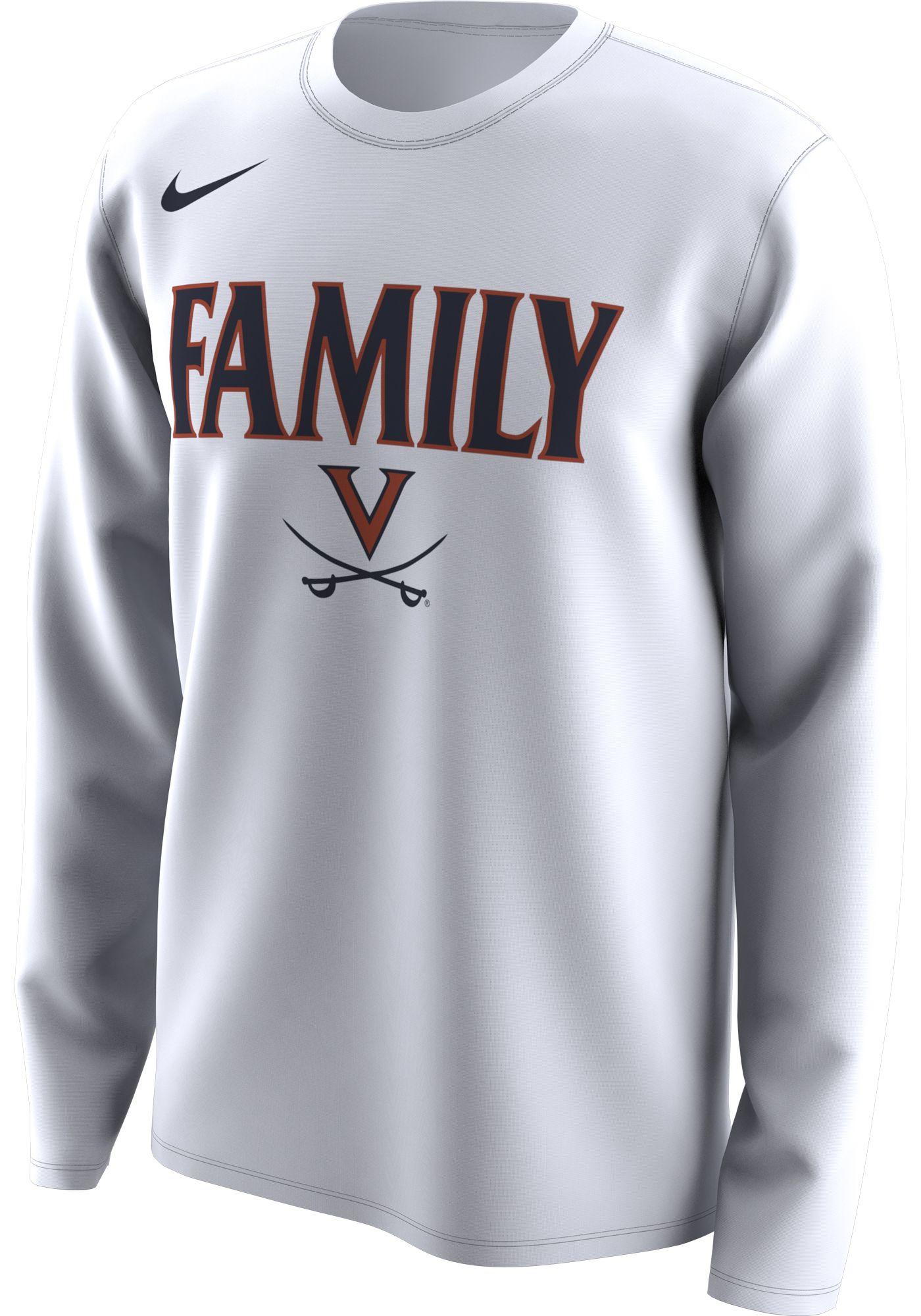Nike Men's Virginia Cavaliers 'Family' Bench Long Sleeve White T-Shirt