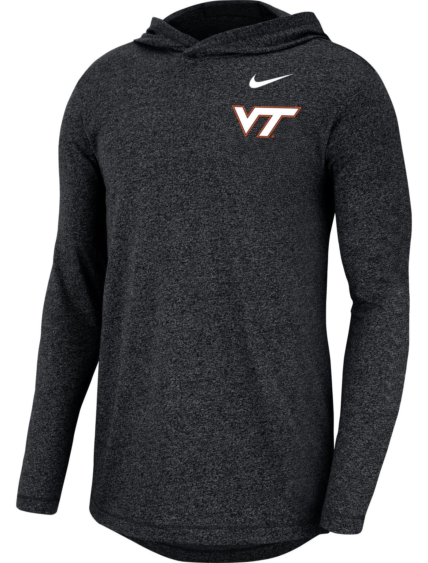 Nike Men's Virginia Tech Hokies Marled Long Sleeve Black Hoodie