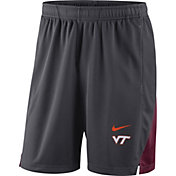 Nike Men's Virginia Tech Hokies Grey Franchise Shorts