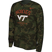 Nike Men's Virginia Tech Hokies Camo Veteran Long Sleeve T-Shirt
