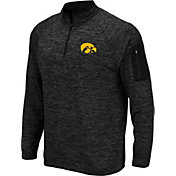 Colosseum Men's Iowa Hawkeyes Quarter-Zip Black Shirt