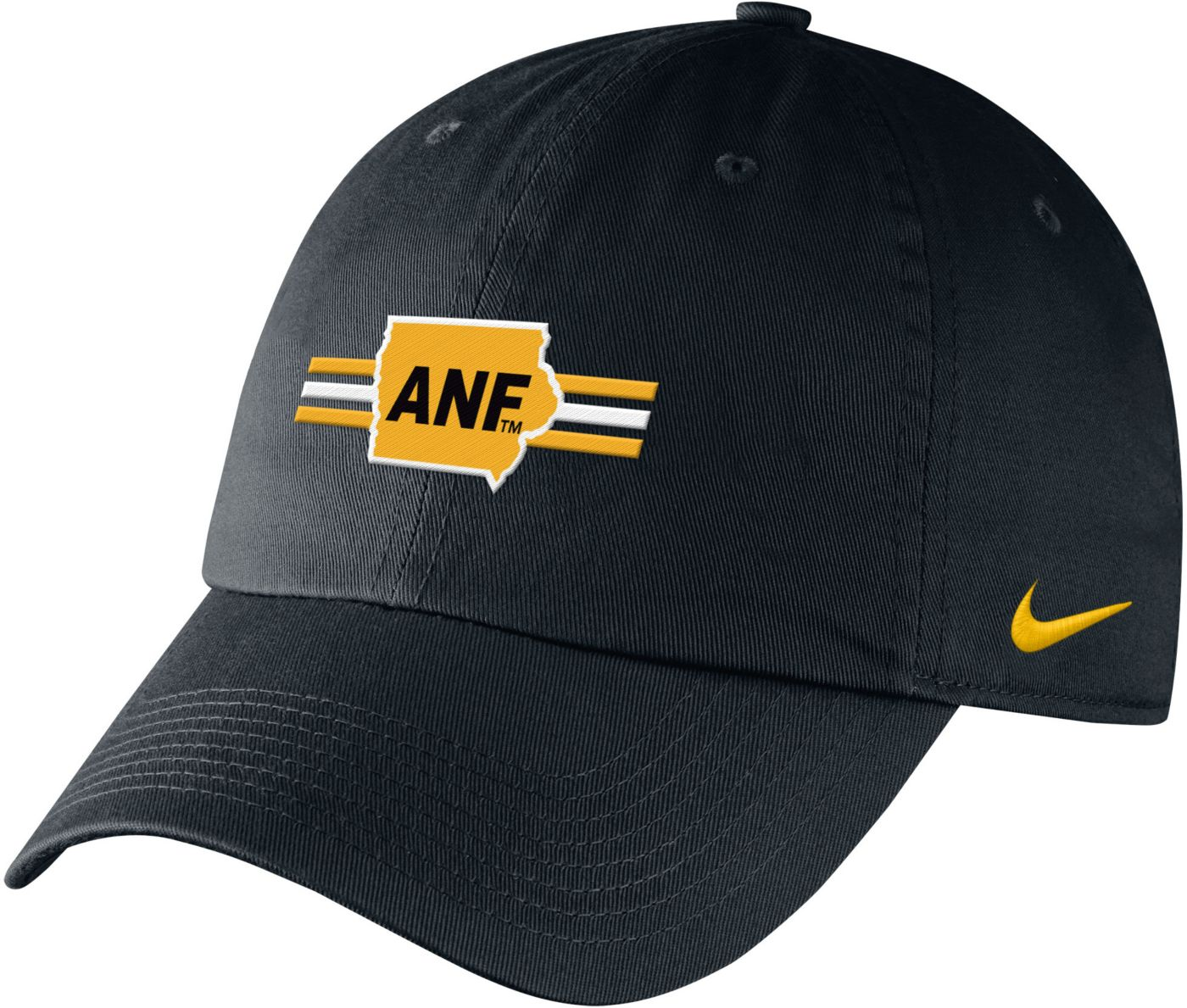 Nike Men's Iowa Hawkeyes ANF Campus Adjustable Black Hat