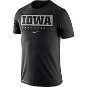 Nike Men's Iowa Hawkeyes Basketball Legend Practice Black T-Shirt