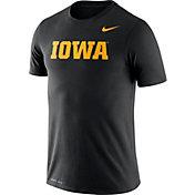 Nike Men's Iowa Hawkeyes Black Dri-FIT Legend Word T-Shirt