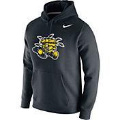 Nike Men's Wichita State Shockers Club Fleece Pullover Black Hoodie