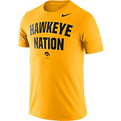 Nike Men's Iowa Hawkeyes Gold Dri-FIT 'Hawkeye Nation' T-Shirt