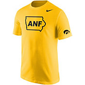 Nike Men's Iowa Hawkeyes Gold ANF Cotton T-Shirt