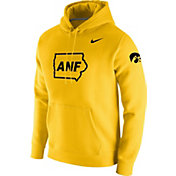 Nike Men's Iowa Hawkeyes Gold ANF Fleece Pullover Hoodie
