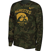 Nike Men's Iowa Hawkeyes Camo Veteran Long Sleeve T-Shirt