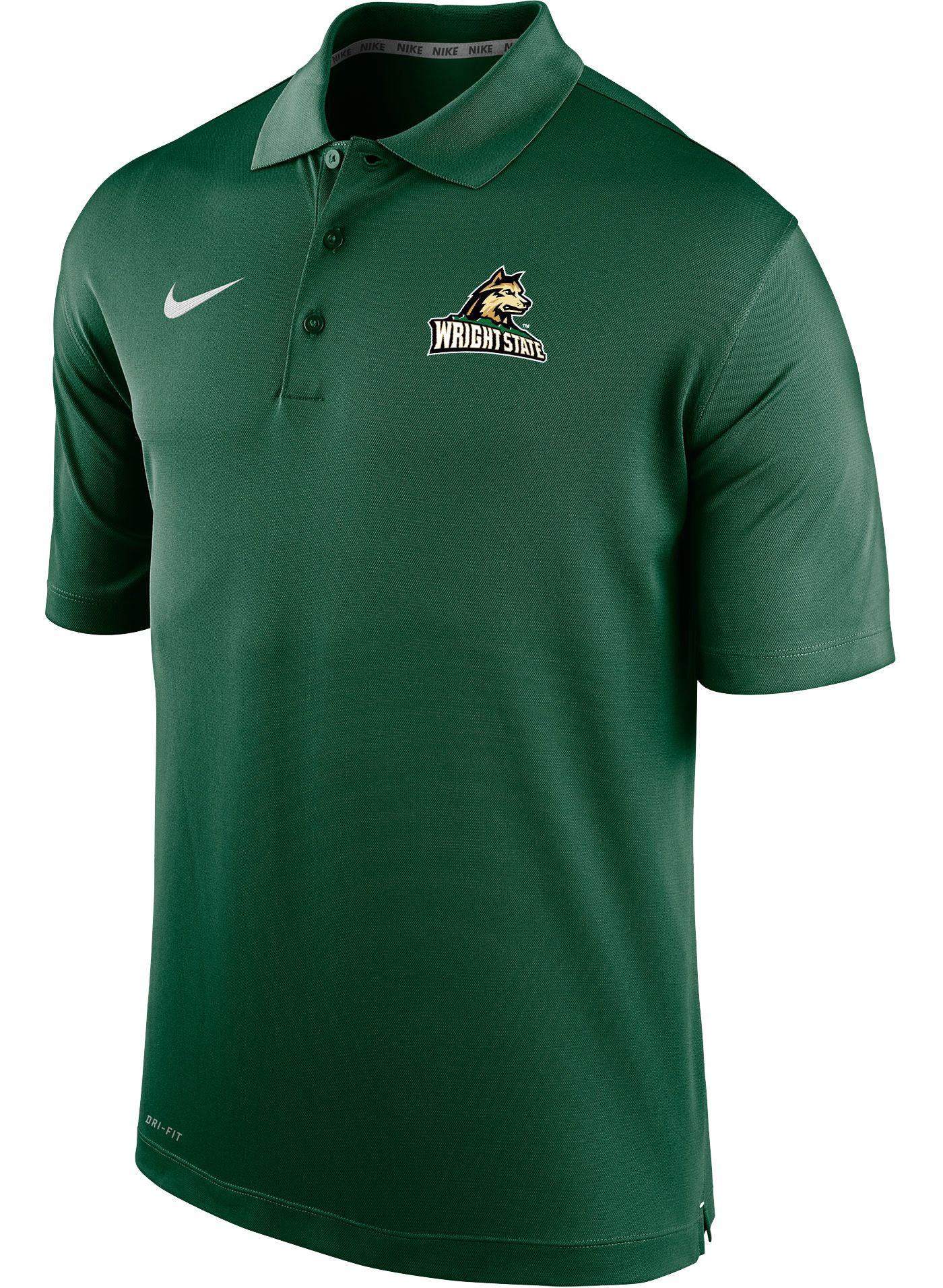 Nike Men's Wright State Raiders Green Varsity Polo