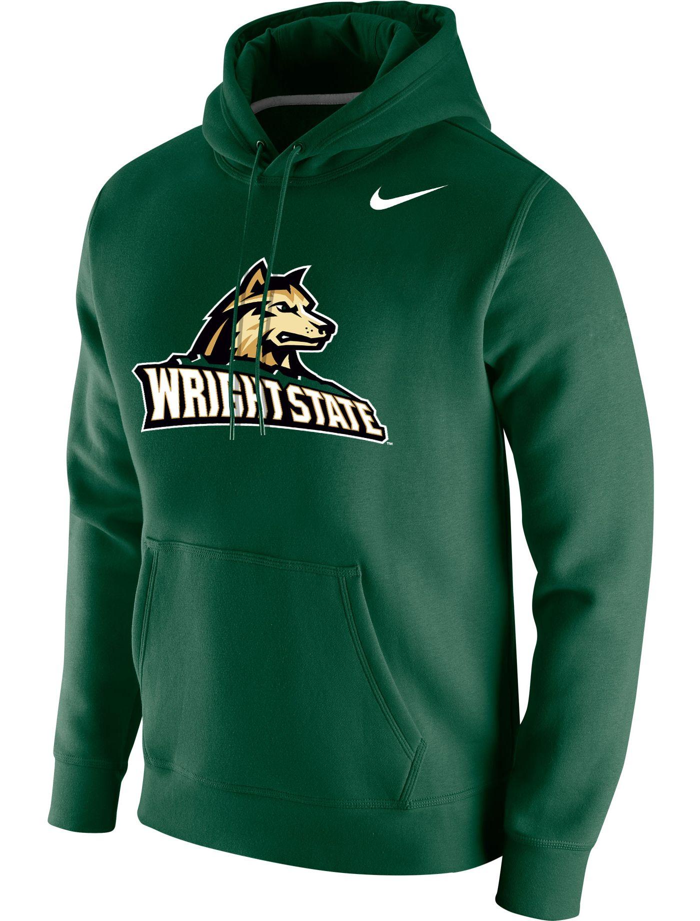 Nike Men's Wright State Raiders Green Club Fleece Pullover Hoodie