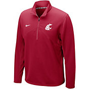 Nike Men's Washington State Cougars Crimson Dri-FIT Training Quarter-Zip Shirt