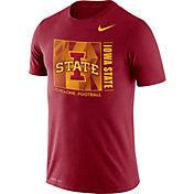 Nike Men's Iowa State Cyclones Cardinal Team Issue Logo Football T-Shirt