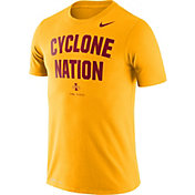 Nike Men's Iowa State Cyclones Gold Dri-FIT 'Cyclone Nation' T-Shirt