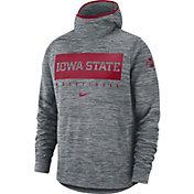Nike Men's Iowa State Cyclones Grey Spotlight Pullover Basketball Hoodie