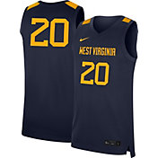 Nike Men's West Virginia Mountaineers #20 Blue Replica Basketball Jersey