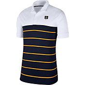 Nike Men's West Virginia Mountaineers White/Blue Striped Polo