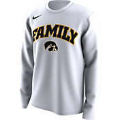Nike Men's Iowa Hawkeyes 'Family' Bench Long Sleeve White T-Shirt