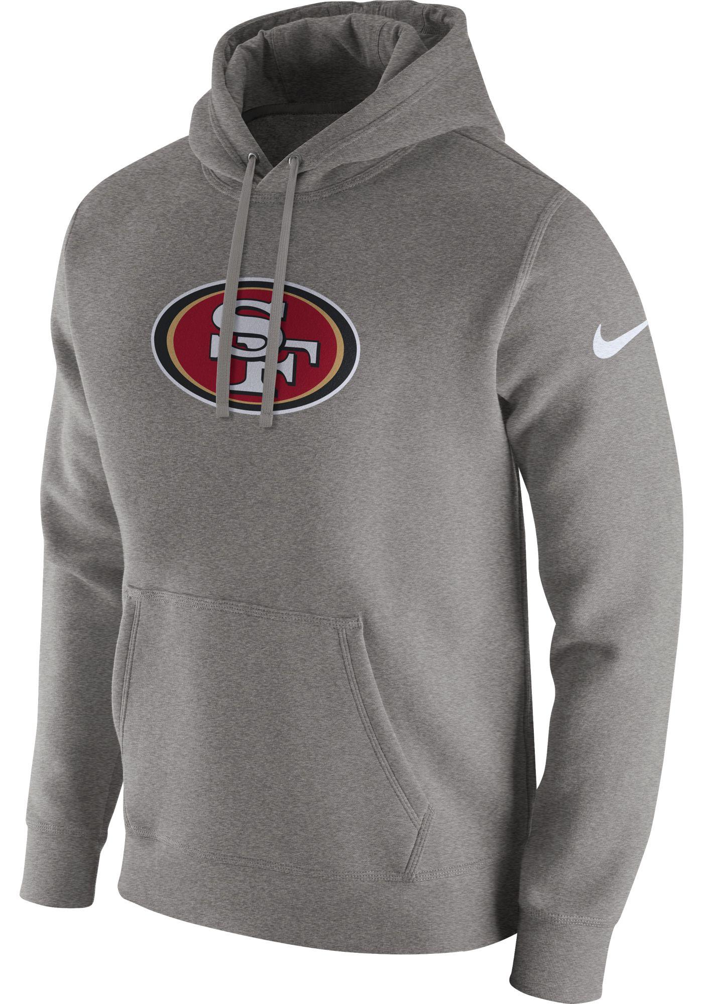 Nike Men's San Francisco 49ers Logo Club Grey Hoodie