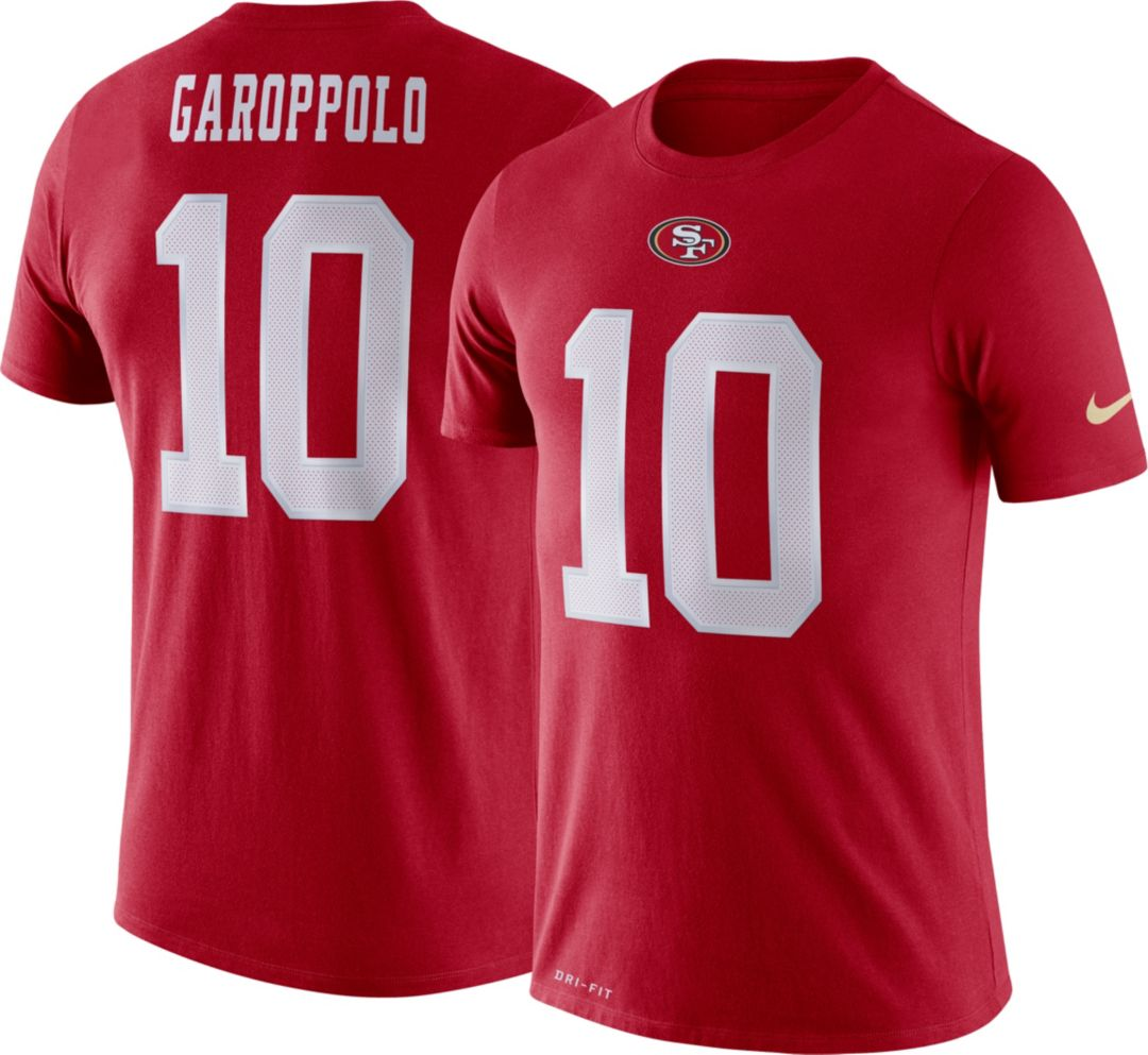 the best attitude 92db2 f8d5d Nike Men's San Francisco 49ers Jimmy Garoppolo #10 Logo Red T-Shirt