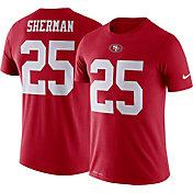 Nike Men's San Francisco 49ers Richard Sherman #25 Logo Red T-Shirt