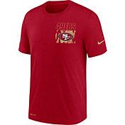 Nike Men's San Francisco 49ers Sideline Dri-FIT Cotton Facility Red T-Shirt