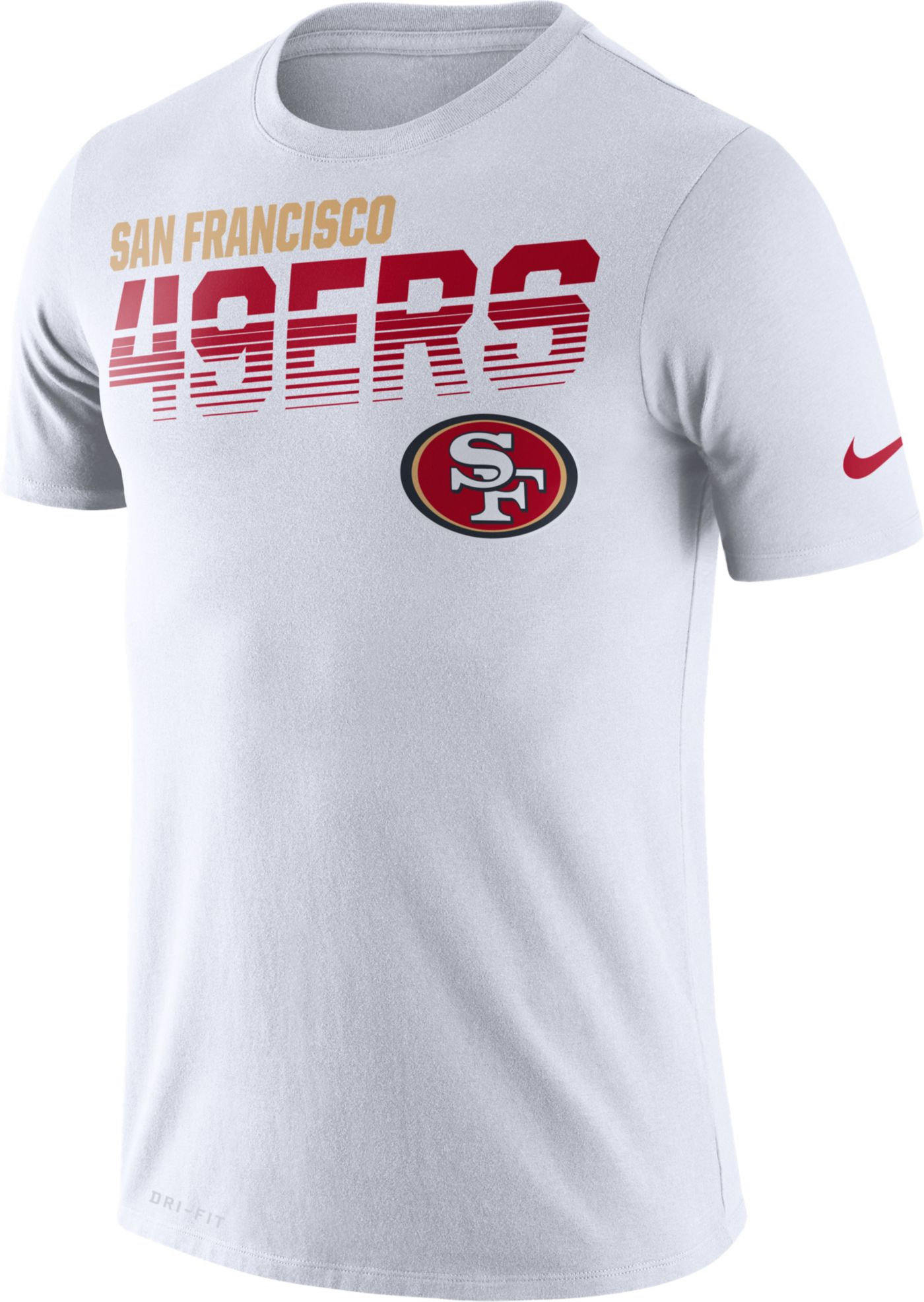 Nike Men's San Francisco 49ers Sideline Legend Performance White T-Shirt