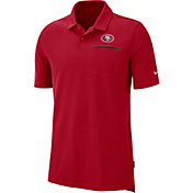 Nike Men's San Francisco 49ers Sideline Elite Performance Red Polo