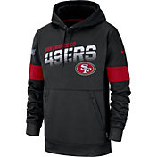 Nike Men's San Francisco 49ers 100th Sideline Therma-FIT Black Pullover Hoodie