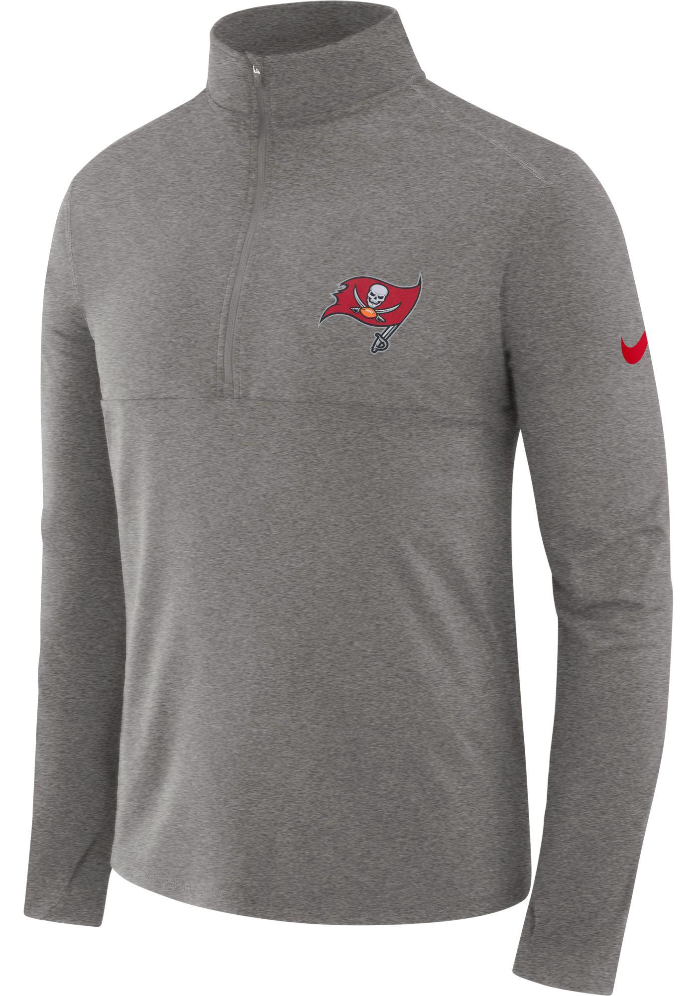Nike Men's Tampa Bay Buccaneers Core Grey Half-Zip Performance Pullover