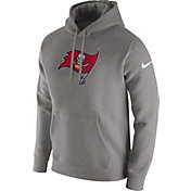 Nike Men's Tampa Bay Buccaneers Logo Club Grey Hoodie