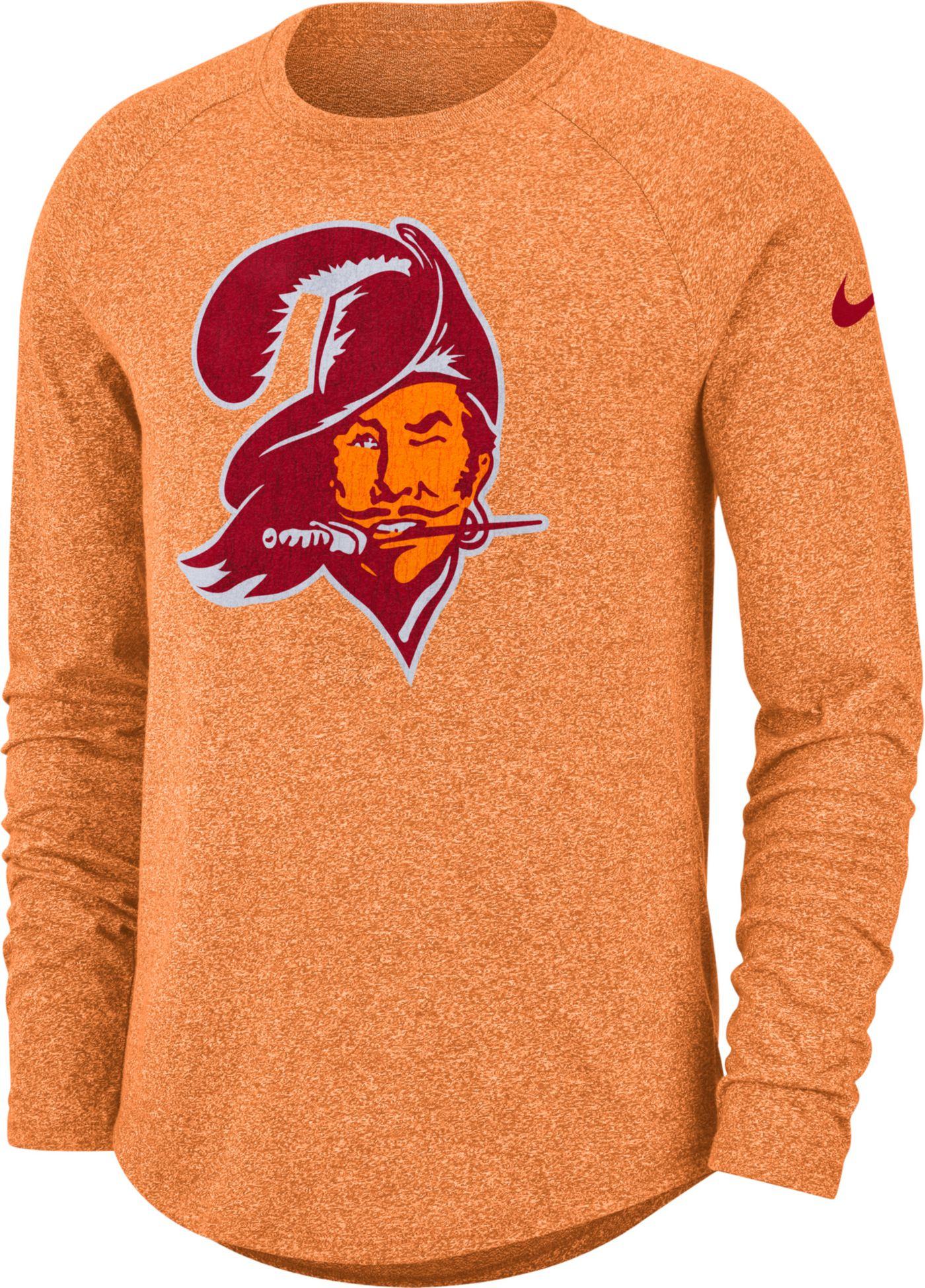 Nike Men's Tampa Bay Buccaneers Marled Historic Performance Orange Long Sleeve Shirt
